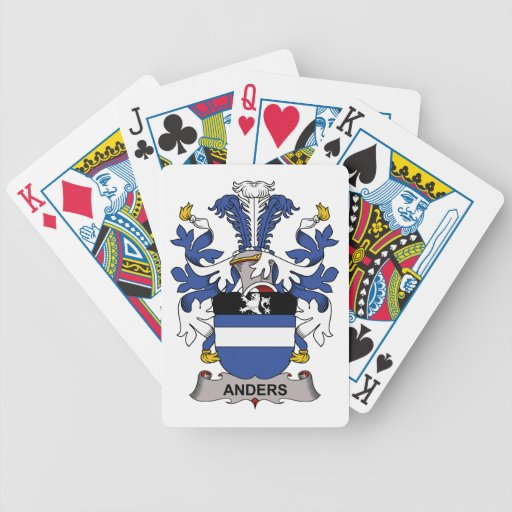 Anders Family Crest Bicycle Playing Cards