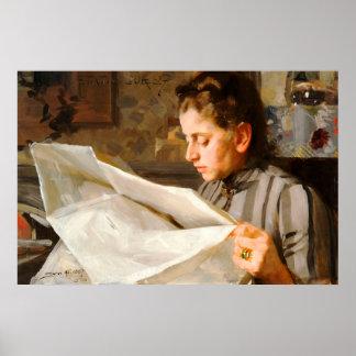 Anders Zorn - lectura del poster CC0275