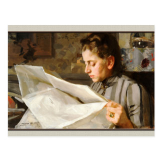 Anders Zorn Portrait of Emma CC0069 Postcard