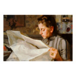 Anders Zorn - Reading CC0275 Poster