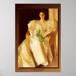 Anders Zorn's Portrait of Mrs. Eben Richards Poster