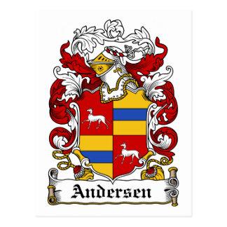 Andersen Family Crest Postcard