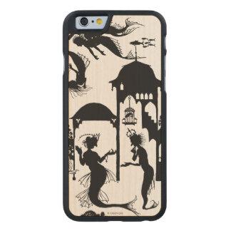 Andersen: Little Mermaid Silhouette Carved Maple iPhone 6 Slim Case