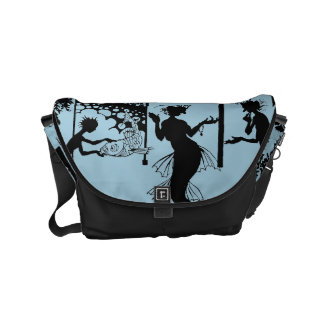 Andersen: Silueta de little mermaid Bolsas De Mensajería
