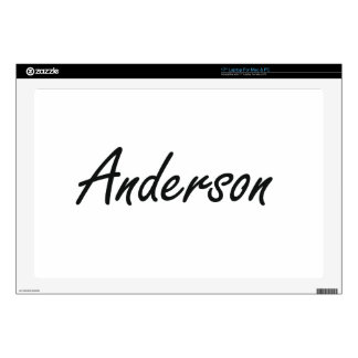 Anderson Artistic Name Design Laptop Decal