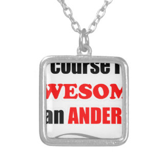 Anderson Awesome Family Silver Plated Necklace