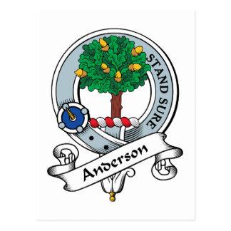 Anderson Clan Badge Postcard