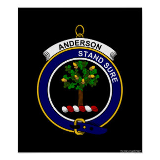 Anderson - Clan Crest Poster