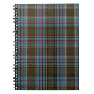 Anderson Clan Family Tartan Notebook