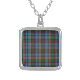 Anderson Clan Family Tartan Silver Plated Necklace