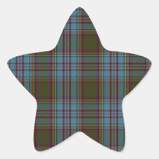 Anderson Clan Family Tartan Star Sticker