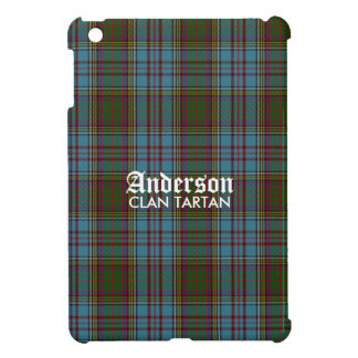 Anderson Clan Family Tartan (with name) iPad Mini Cases