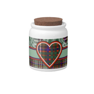 Anderson clan Plaid Scottish tartan Candy Jar