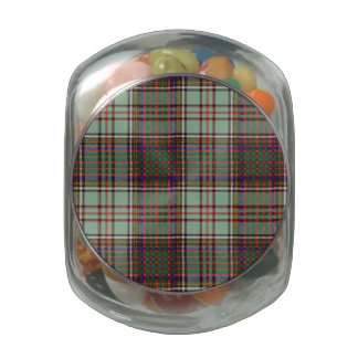 Anderson clan Plaid Scottish tartan Glass Jar