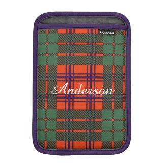 Anderson clan Plaid Scottish tartan iPad Mini Sleeve