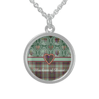 Anderson clan Plaid Scottish tartan Sterling Silver Necklaces