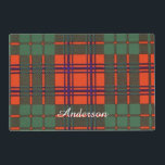 """Anderson clan Plaid Scottish tartan Placemat<br><div class=""""desc"""">A lovely design based on the real Scottish tartan</div>"""