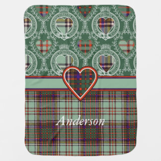 Anderson clan Plaid Scottish tartan Receiving Blanket