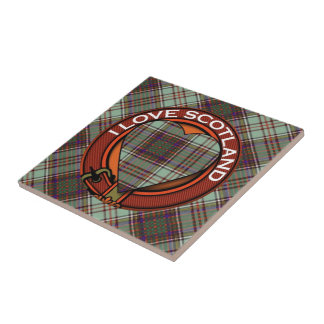 Anderson clan Plaid Scottish tartan Tile