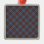 Anderson Clan Tartan Designed Print Silver-Colored Square Decoration