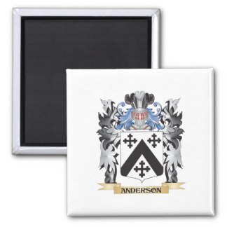 Anderson Coat of Arms - Family Crest 2 Inch Square Magnet