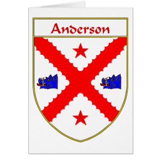 Anderson Coat of Arms/Family Crest Card