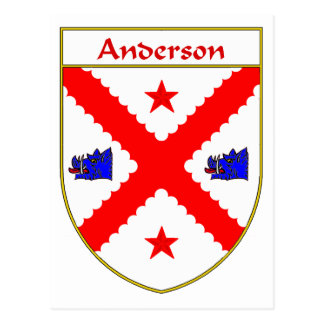 Anderson Coat of Arms/Family Crest Postcard