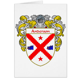 Anderson Coat of Arms (Mantled) Card