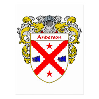 Anderson Coat of Arms (Mantled) Postcard