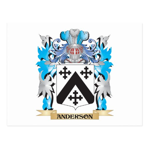 Anderson Coat Of Arms Postcard