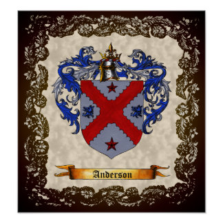 Anderson Coat of Arms Print