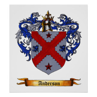 Anderson Coat of Arms Poster