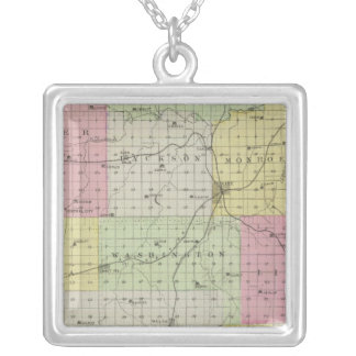 Anderson County, Kansas Silver Plated Necklace