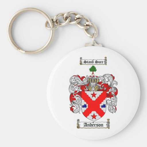 ANDERSON FAMILY CREST -  ANDERSON COAT OF ARMS KEYCHAINS