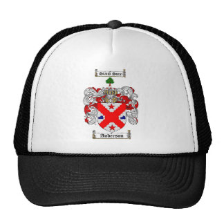 ANDERSON FAMILY CREST -  ANDERSON COAT OF ARMS TRUCKER HAT