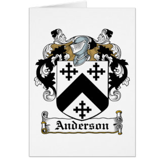 Anderson Family Crest Card