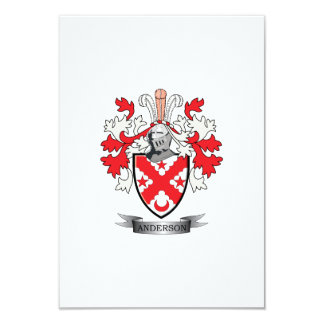 Anderson Family Crest Coat of Arms Card
