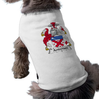 Anderson Family Crest Dog Shirt