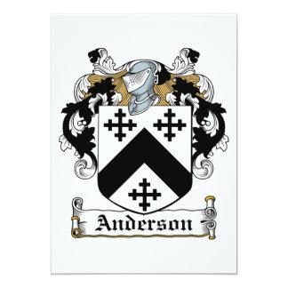 Anderson Family Crest Personalized Invitation