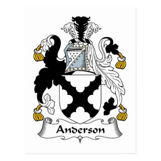 Anderson Family Crest Postcard