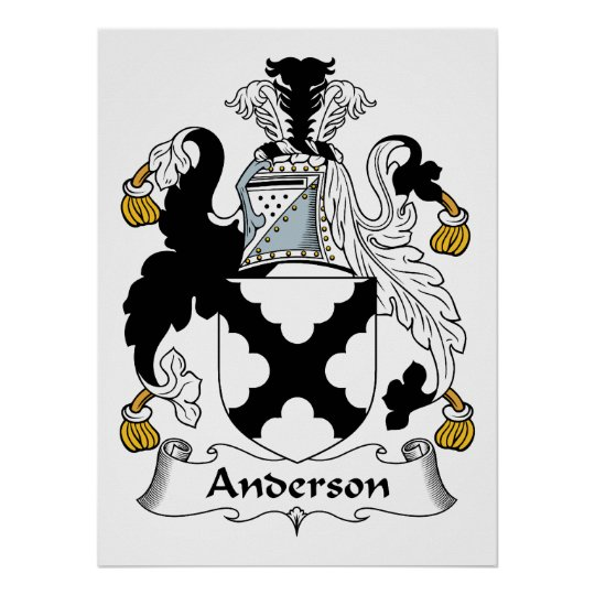 Anderson Family Crest Poster