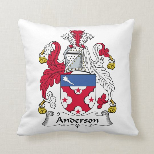 Anderson Family Crest Throw Pillow