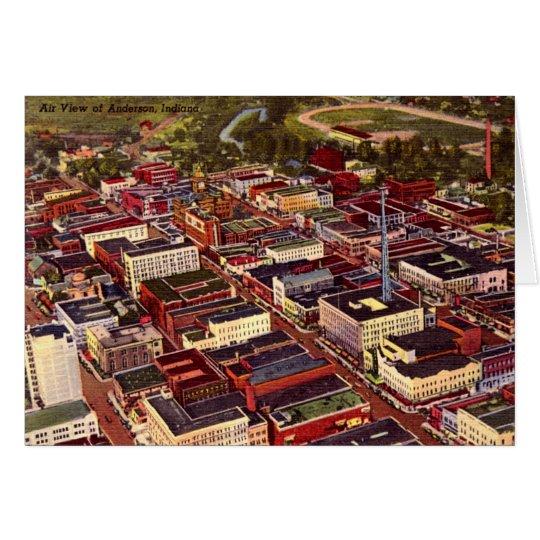 Anderson, Indiana Birdseye View Card
