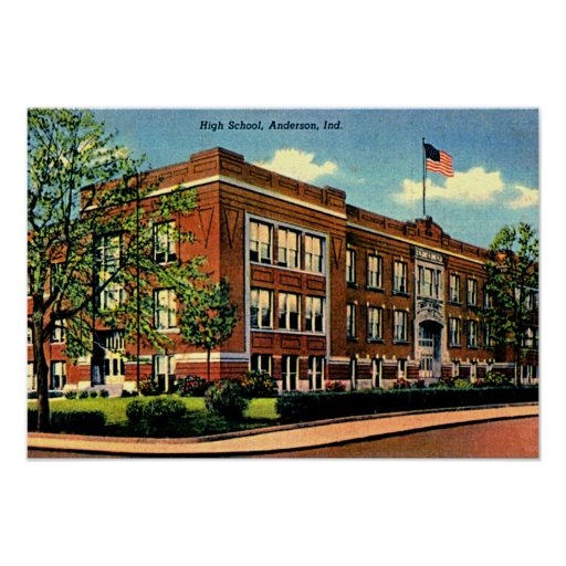 Anderson Indiana High School Poster Zazzle