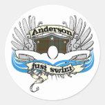 Anderson Just Swim Sticker