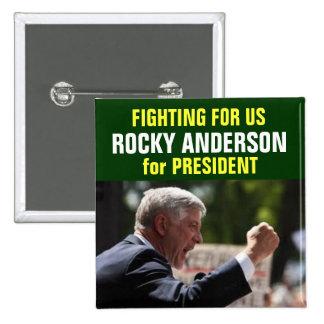 Anderson rocosa para el botón del presidente pin
