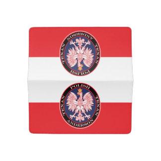 Anderson Round Polish Texan Checkbook Cover