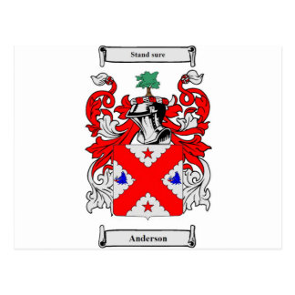 Anderson (Scottish) Coat of Arms Postcard