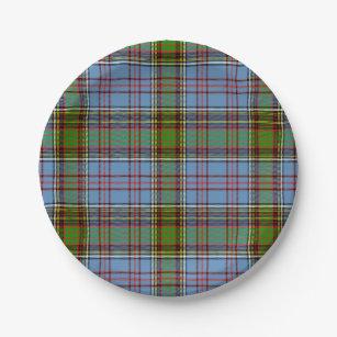 Anderson Scottish Tartan Paper Plate  sc 1 st  Zazzle & Scottish Tartan Plates   Zazzle