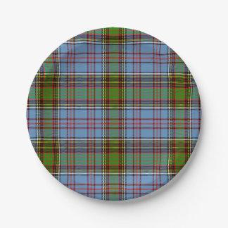 Anderson Scottish Tartan Paper Plate